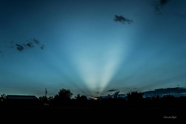 Photograph - Crepuscular Rays At Sunset by Karen Slagle