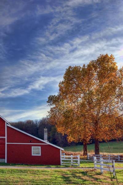 Wall Art - Photograph - Crescent Barn In Autumn by Nikolyn McDonald