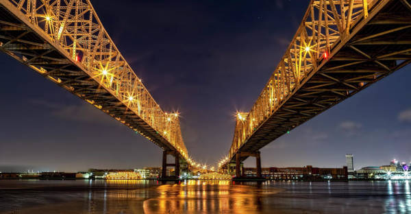Photograph - Crescent City Bridge Panorama by Kay Brewer