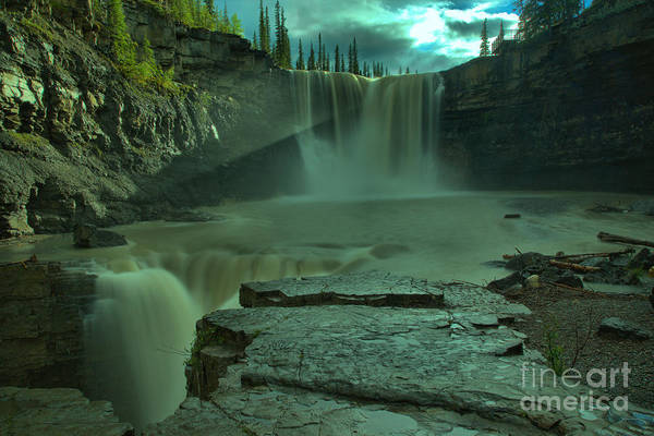 Photograph - Crescent Falls Light Rays Through The Mist by Adam Jewell