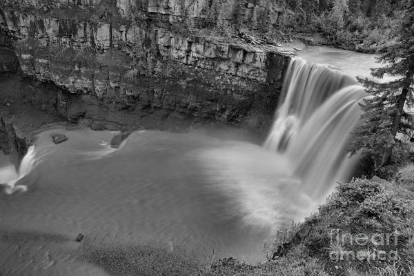 Photograph - Crescent Falls On The Bighorn River Black And White by Adam Jewell