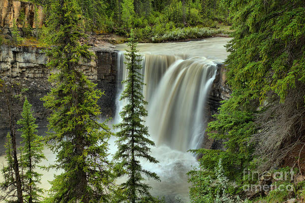 Photograph - Crescent Falls Through The Trees by Adam Jewell