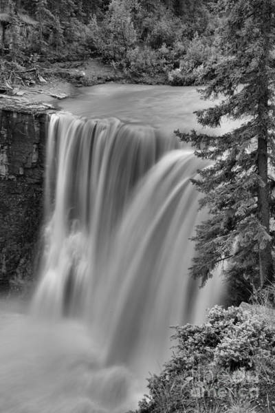 Photograph - Crescent Falls Wooded Portrait Black And White by Adam Jewell