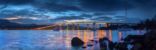 Wall Art - Photograph - Crescent Moon Over The River Derwent by Sean Davey