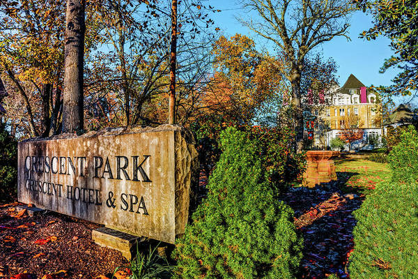 Photograph - Crescent Park Hotel In Autumn - Eureka Springs Arkansas by Gregory Ballos