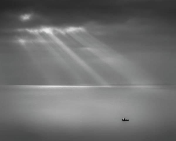 Bristol Channel Photograph - Crespecular Rays Over Bristol Channel by Paul Simon Wheeler Photography