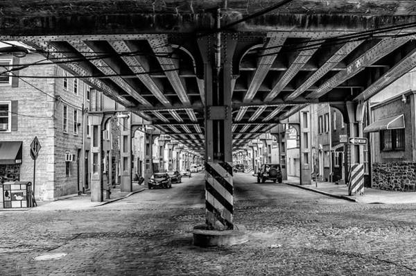 Photograph - Cresson Street Manayunk In Black And White by Bill Cannon