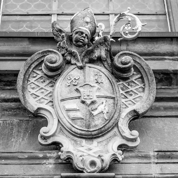 Wall Art - Photograph - Crest Of Saint Peter B W  by Teresa Mucha