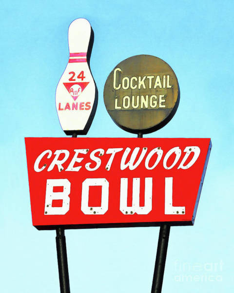 Wall Art - Photograph - Crestwood Bowl Bowling Alley 20190105a by Wingsdomain Art and Photography
