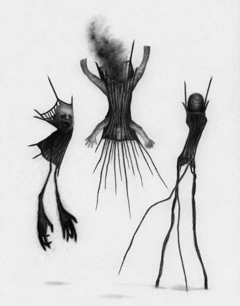 Drawing - Crib Bound Corrupted - Artwork by Ryan Nieves