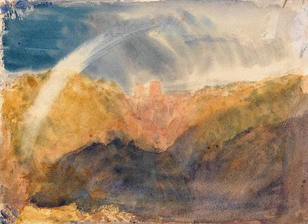 Wall Art - Painting - Crichton Castle, Mountainous Landscape With A Rainbow - Digital Remastered Edition by William Turner