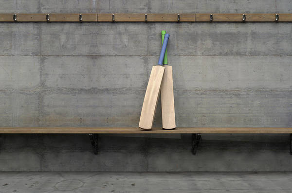 Wall Art - Digital Art - Cricket Bat In Change Room by Allan Swart