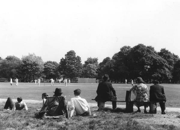 People Watching Photograph - Cricket Match by Grace Robertson