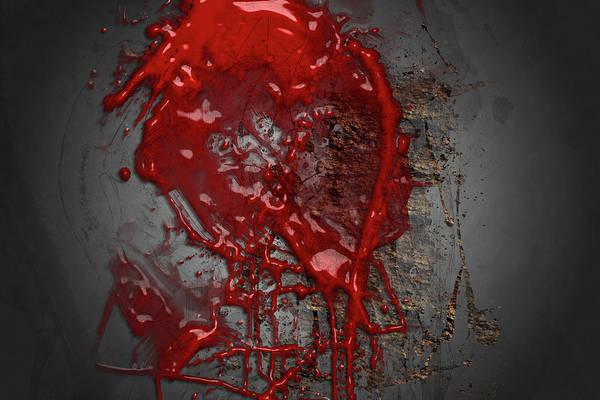 Digital Art - Abstract Artwork Crime Scene by Carlos Diaz