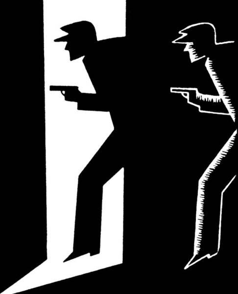 Weapons Digital Art - Criminal Holding Gun by Graphicaartis