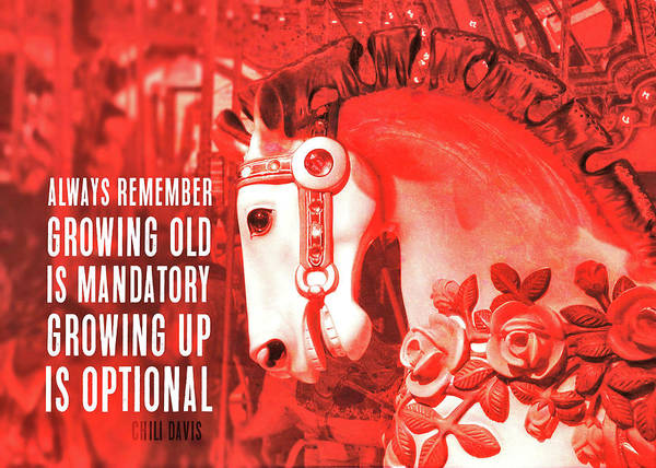 Crimson Carousel Quote Art Print