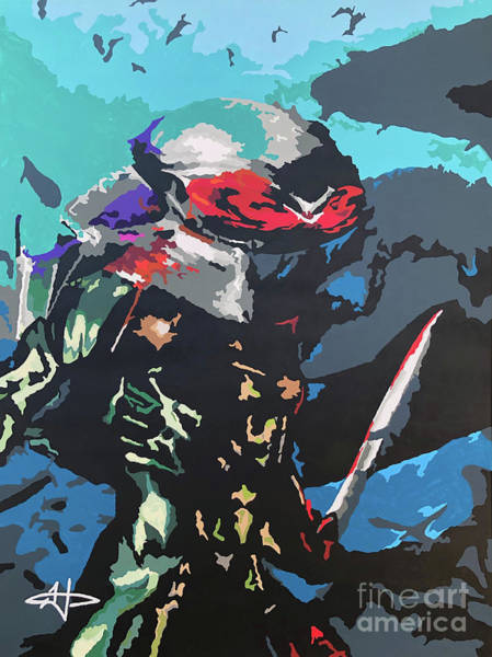 Wall Art - Painting - Crisis Rising - Black Manta by Kelly Hartman