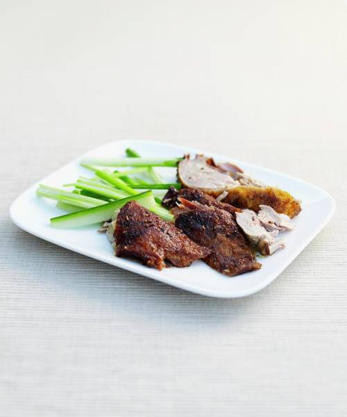 Duck Meat Photograph - Crispy Chinese Duck With Vegetables On by Dorling Kindersley