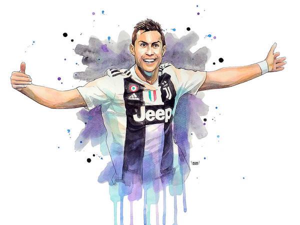 Wall Art - Painting - Cristiano Ronaldo Cr7 Juventus by Wachira Kacharat