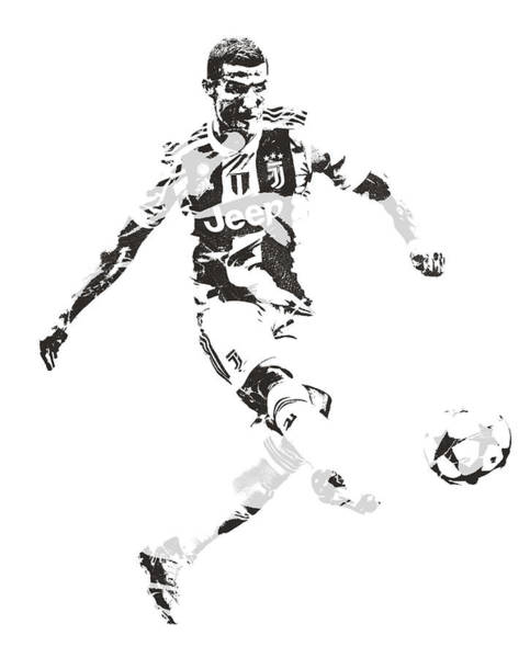 Premier League Wall Art - Mixed Media - Cristiano Ronaldo Juventus Pixel Art 4 by Joe Hamilton