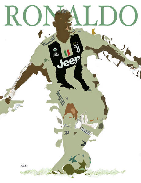 Wall Art - Painting - Cristiano Ronaldo,   Juventus by Thomas Pollart