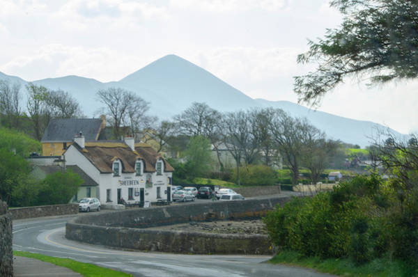 Photograph - Croagh Patrick And Sheebeen Pub - County Mayo Ireland by Bill Cannon