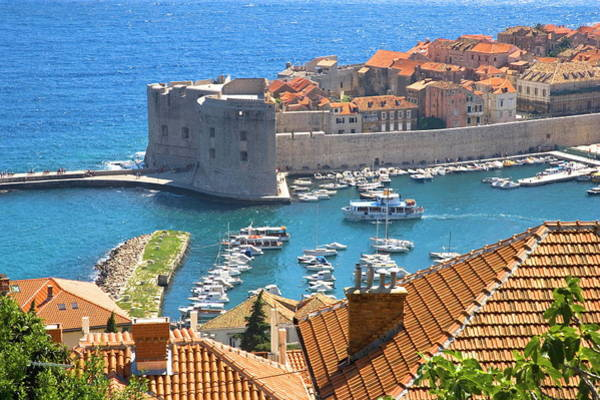Fortified Wall Art - Photograph - Croatia, Dubrovnik, Old Town By by Gyro Photography/amanaimagesrf