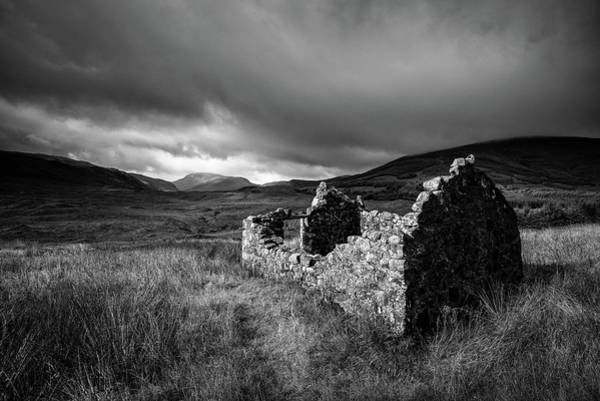 Wall Art - Photograph - Crofters Cottage Ruin by Dave Bowman