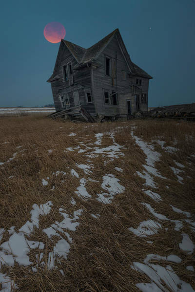 Photograph - Crooked Moon by Aaron J Groen