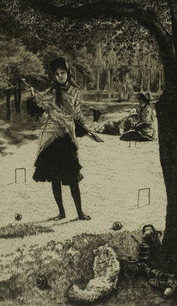 Wall Art - Relief - Croquet by James Tissot