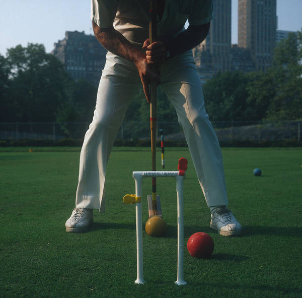 1970 Photograph - Croquet Player by Slim Aarons