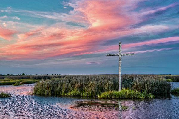 Photograph - Cross At Sunset by Jerry Gammon