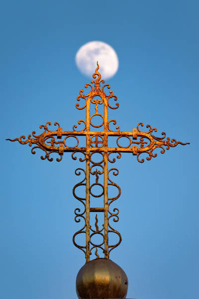 Photograph - Cross In Front Of The Moon by Fabrizio Troiani