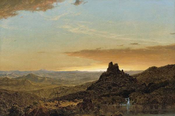 Wall Art - Painting - Cross In The Wilderness Frederic Edwin Church by Celestial Images