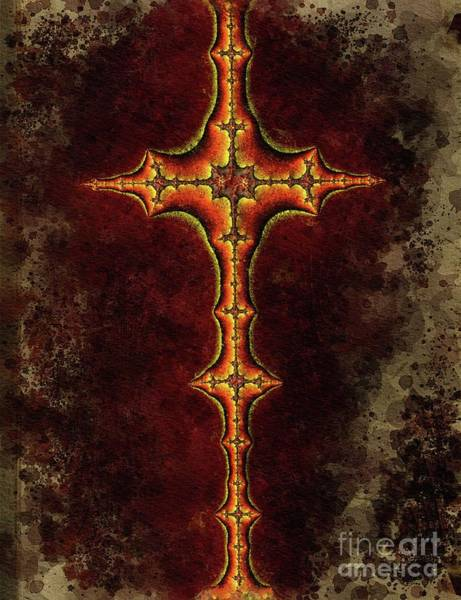 Wall Art - Painting - Cross Of Mystery by Pierre Blanchard