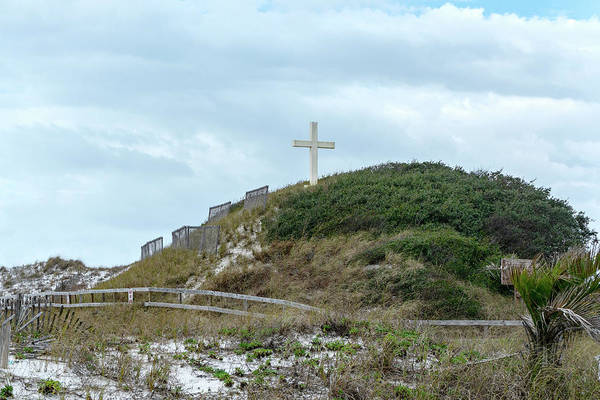Photograph - Cross On The Dune by Sharon Popek