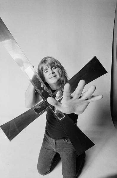 Ozzy Osbourne Wall Art - Photograph - Cross To Bare by Fin Costello