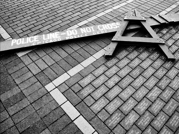 Wall Art - Photograph - Crossed Lines Wrigley Field by William Dey