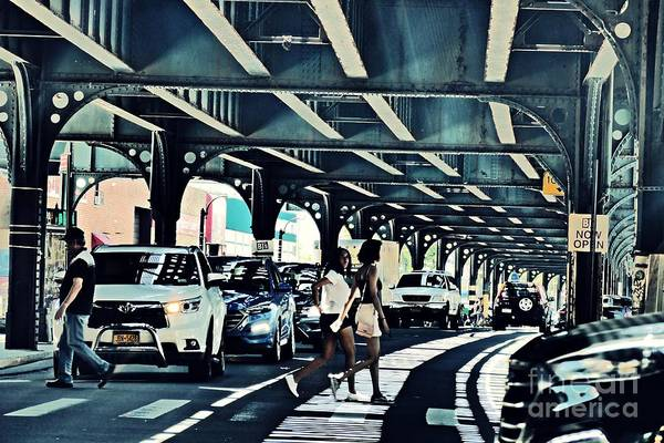 Wall Art - Photograph - Crossing Broadway In The Bronx    by Sarah Loft