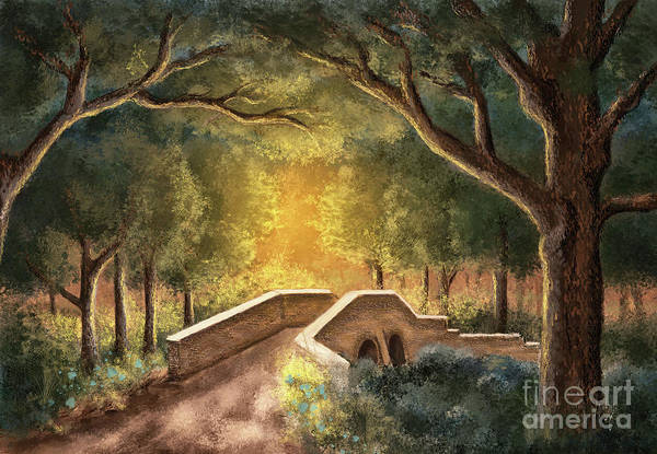 Wall Art - Digital Art - Crossing Little Antietam Creek  by Lois Bryan