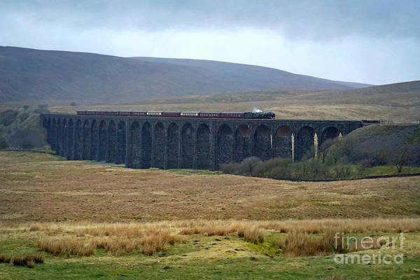 Photograph - Crossing Ribblehead Viaduct by David Birchall