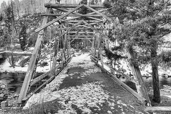 Photograph - Crossing The Pecos Black And White by JC Findley