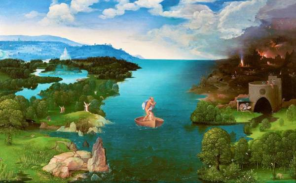 Wall Art - Painting - Crossing The River Styx - Digital Remastered Edition by Joachim Patinir