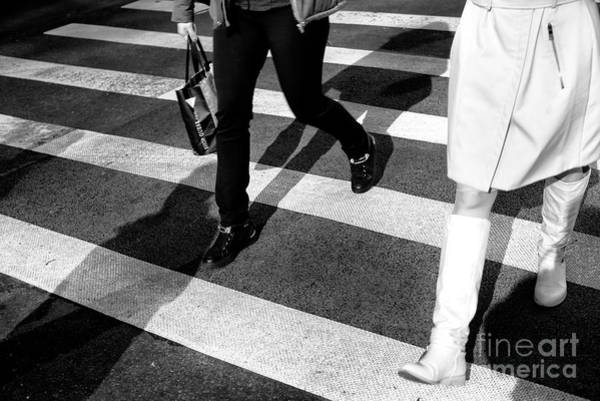 Photograph - Crossings 1970's Style New York City by John Rizzuto