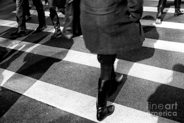 Wall Art - Photograph - Crossings Black Boots New York City by John Rizzuto