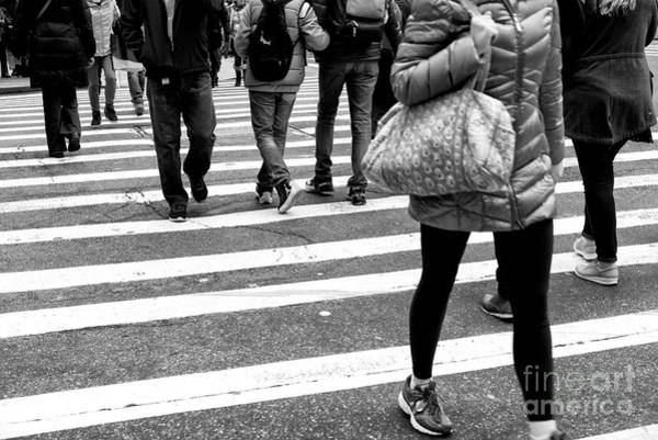 Photograph - Crossings Bundled Up New York City by John Rizzuto