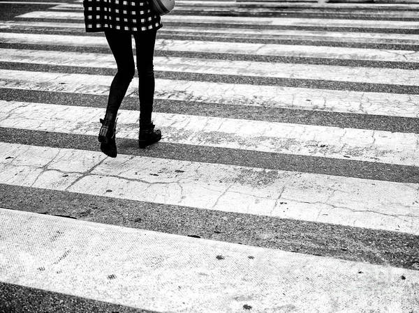Photograph - Crossings Checkered Jacket Black Boots New York City by John Rizzuto