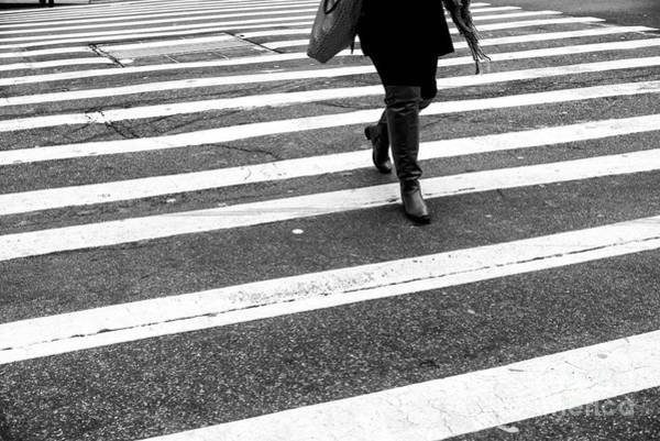 Photograph - Crossings In A Scarf New York City by John Rizzuto