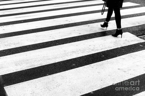 Photograph - Crossings In Black New York City by John Rizzuto