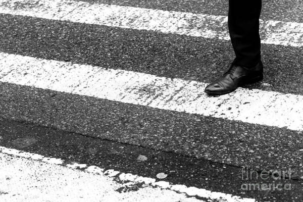 Photograph - Crossings Leather Shoe New York City by John Rizzuto